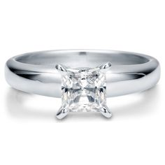 Berricle Sterling Silver Princess Cut Cz Solitaire Engagement Ring 1.24 Carat