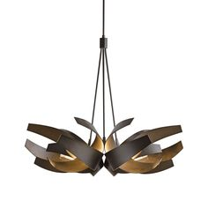 Great Room 35.1w x 29.2h different finish options Corona Large Pendant | Hubbardton Forge