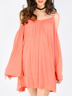 Shop Pink Cold Shoulder Long Sleeve Shift Dress online. SheIn offers Pink Cold Shoulder Long Sleeve Shift Dress & more to fit your fashionable needs.