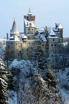 Bran Castle, Romania. Built by the Saxons of Braşov purportedly in the year 1377.