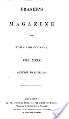 """#Onthisday in 1844, William M Thackeray completes """"The Luck of Barry Lyndon, which is published in Fraser's Magazine"""