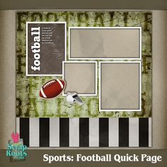 free digital scrapbook football quick page