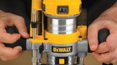 DeWalt Compact Router HIGHLY RECOMMENDED by EZInlays Great tool for building Inlays. Lightweight, easy to handle, easy to adjust, and I love the LED light illuminating the work area. Hand Router, Router Tool, Router Bits, Woodworking Hand Tools, Woodworking Plans, Woodworking Projects, Unique Woodworking, Woodworking Techniques, Woodworking Furniture