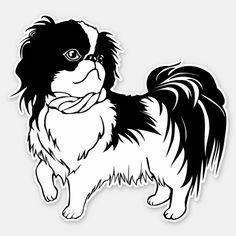 Shih Tzu Hund, Shih Tzu Puppy, Black And White Dog, White Dogs, Pet Dogs, Dogs And Puppies, Pets, Dog Line Art, Pekingese Puppies