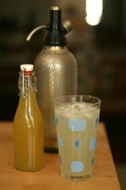 Homemade Ginger Soda.  Perfect for the Soda Stream!