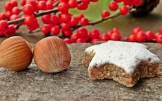 INGREDIENTS : cup ground hazelnut cup ground almond 1 tablespoon cocoa powder 1 tablespoon vanilla sugar 2 teaspoons ground cinnamon A pinch fo salt 1 cup powdered… Biscuits, Biscotti Cookies, Star Cookies, Christmas Cooking, Aesthetic Food, Lowes, Muffin, Food And Drink, Low Carb