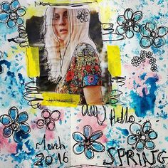 Motif 11 #flowers #52motifsdexpressionlibre #hellospring #spring #march2016 #artjournalpage #artjournal #artcollage #collage #mixedmedia #creative #create #drawing #drawingflowers #motifs #instadraw #instacollage #printemps  #artjournaleveryday