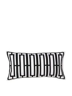 Trina Turk Zebra Stripe Decorative Pillow, Black