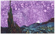 The Starry Night: Histology Remix When art imitates life…and life imitates art. Foreground by Vincent van Gogh It's the view he painted from the window of his sanitarium room in the South of...