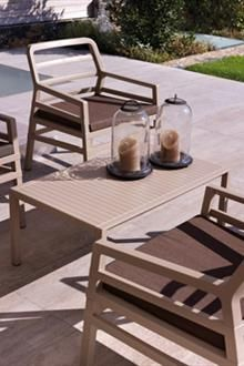 Nardi Aria 5 Piece Lounge Set In Avana With Caffe Cushions