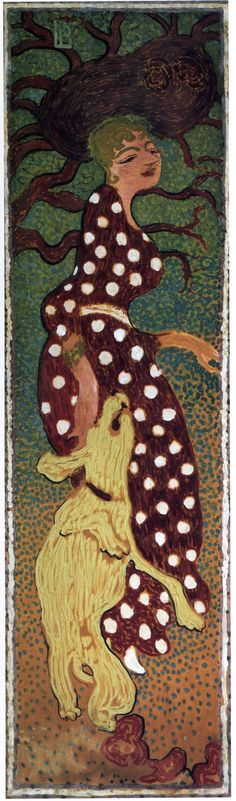 Woman in a Polka Dot Dress - Pierre Bonnard.