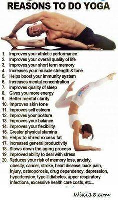 All good reasons to do yoga