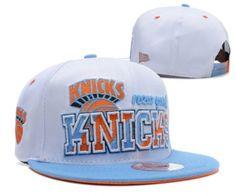 Casquette NBA New York Knicks Snapback Blanc Bleu Casquette New Era Pas Cher