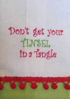 Christmas Embroidered Hand Towel by EmbroidablesForYou on Etsy, $16.00
