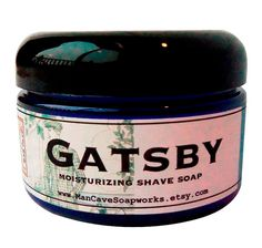SHAVE Soap in a Jar   GATSBY  Straight Razor by ManCaveSoapworks, $8.00