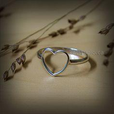 Corazón amor anillo anillo plata anillo de corazón por Katstudio
