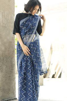 #indigo #sari #prints #kota #cotton #women #Fabindia #fashion