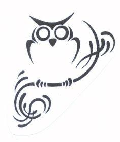 tribal owl tattoos designs