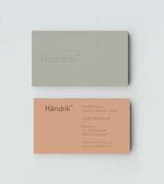 /: nothingtochance: Handrick Corporate Identity...