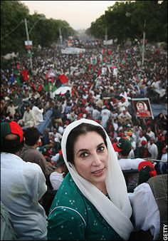 """Benazir Bhutto: """"I fully understand the men behind Al Qaeda. They have tried to assassinate me twice before. The Pakistan Peoples Party and I represent everything they fear the most — moderation, democracy, equality for women, information, and technology. We represent the future of a modern Pakistan, a future that has no place in it for ignorance, intolerance, and terrorism."""" She was assassinated in 2007."""