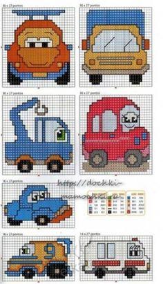 Схемы машинок для вязания и вышивки для детей / Вышивка / Схемы вышивки крестом