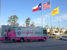 It's a beautiful day in Houston! Mammosafe is pleased to be serving the women of DHL today. Some of our patients today are having their first ever mammogram even though they are over 40 years of age and they have shared with us the fact that our presence right here at their place of business enabled them to obtain this vital screening. That means everything to us! We hope that this will start a habit of yearly screening for all women 40 and over! Thank you to all the people at DHL.