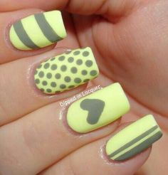 Great colour combo Dipped in Lacquer: Glow in the Dark Nail Art - Serum No. Nail Designs Tumblr, Tumblr Nail Art, Simple Nail Art Designs, Cute Nail Designs, Cute Nail Art, Beautiful Nail Art, Fabulous Nails, Gorgeous Nails, Fancy Nails