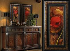 Ancient Garden Poppies Tuscan Wall Art