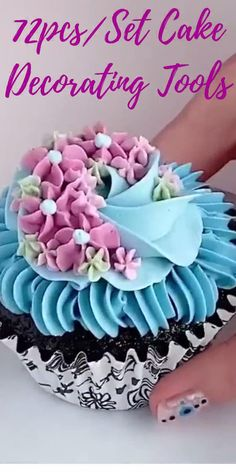 Cupcake Decorating Tips, Buttercream Cake Decorating, Creative Cake Decorating, Cake Decorating Techniques, Creative Cakes, Cookie Decorating, Decorating Ideas, Birthday Cake Video, Professional Cake Decorating