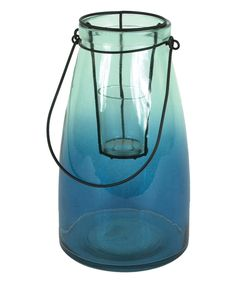 Another great find on #zulily! Blue Glass Candleholder by Creative Co-Op #zulilyfinds