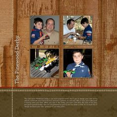 HM Scout Pinewood Derby, Scrap Pages 2  designed by: Roxanne Buchholz  12x12 Scrap Page  Template ID: 44346