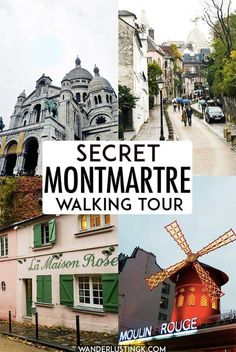 Planning to visit Montmartre in Paris? Your free self-guided walking tour of Montmartre's secret places and the major attractions in the 18th arrondissement, including the best views of Sacre Coeur. Includes secret villages in Montmartre that you won't want to miss and a free map. #paris #travel #travel #europe #Montmartre