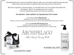 New MILK products from Archipelago Botanicals!