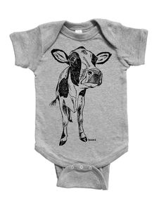 Cow Baby One Piece - Unique Baby Gift - Baby Boy Bodysuit - Baby Girl Bodysuit - Baby Jumper - Animal Print -Unisex Infant Clothes - Creeper Unique Baby Gifts, Baby Boy Gifts, Baby Jumper, Creeper, Baby Bodysuit, Screen Printing, Cow, Onesies, Infant