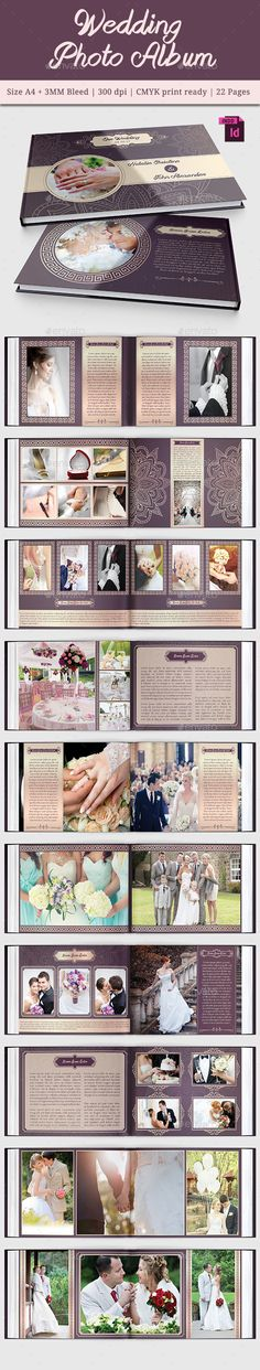 Wedding Photo Album Template #design Download: http://graphicriver.net/item/wedding-photo-album-vol-2/11468532?ref=ksioks