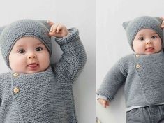 Tricot gratuit : le bonnet layette facile Ideal for beginners, this little garter stitch hat is easy and quick to knit. Free Knitting, Baby Knitting, Knitting Patterns, Hat Patterns, Crochet Baby Hats, Knitted Hats, Bonnet Crochet, Easy Crochet, Layette Pattern