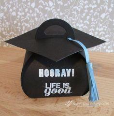 Stamp & Scrap with Frenchie: Graduation Cap with Curvy Keepsake Box