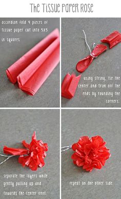 how to instructions for do it yourself tissue paper flowers