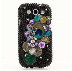 And last one from Luxe Addiction! I just love the colour combination on this phone case! I love purple and I love how they used it as an accent, and the peacock feather just takes it to a whole another level! I think this sparkly cases would look fabulous on my future s3/s4! This case is also $75