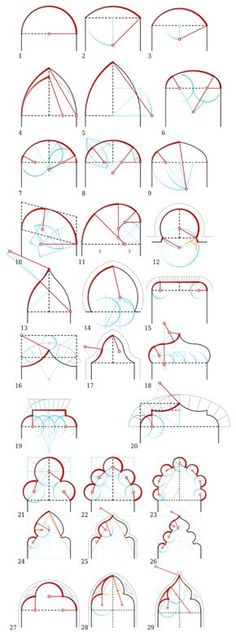 28 Super ideas for geometric art architecture geometry Art Et Architecture, Islamic Architecture, Architecture Details, Geometry Architecture, Modelos 3d, Technical Drawing, Grafik Design, Geometric Art, Autocad