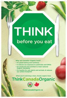 Poster from Certified Organic BC Healthy Snacks, Healthy Eating, Trade Association, Clean Living, Organic Farming, Organic Recipes, Asparagus, Nutrition, Meals