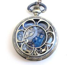 "Doctor Who Pocket Watch Necklace ""Fixed Point""."