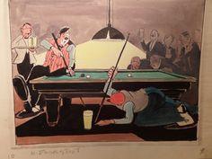 original watercolor Bernard Leemker 1899-1990