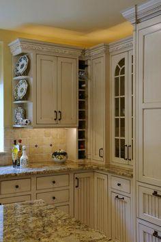 Kitchen Cabinets Cream best granite for cream cabinets | your local kitchen cabinets