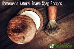 This simple shaving soap recipe is a natural alternative to chemical laden store bought brands and leaves skin soft and smooth