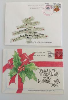 Two of our regular exchangers. Thank you both for participating in exchanges and. - Two of our regular exchangers. Thank you both for participating in exchanges and sending steal wort - Hand Lettering Envelopes, Mail Art Envelopes, Calligraphy Envelope, Envelope Art, Envelope Design, Addressing Envelopes, Art Postal, Christmas Envelopes, Decorated Envelopes