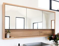 """""""Browse photos of Small Master Bathroom Tile Design. Find ideas and inspiration for Small Master Bathroom Tile Design to increase your house. Timber Bathroom Vanities, Timber Vanity, Vanity Bathroom, Wooden Bathroom Mirror, Wooden Bathroom Cabinets, Bathroom Beadboard, Vanity Mirrors, Bathroom Black, Bathroom Wall"""