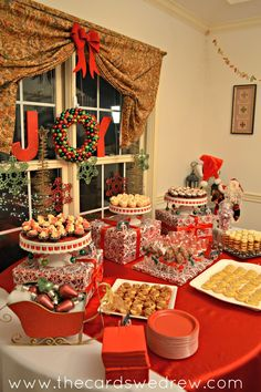 A completely home made and home styled Red and Green Christmas Party