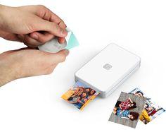 Lifeprint demonstration of sticky back paper