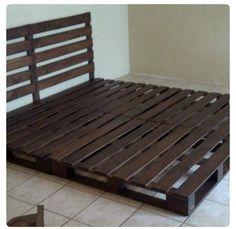 cama de matrimonio de palets